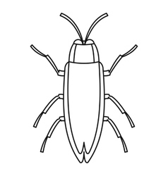 Beetle icon outline style vector image