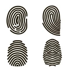 Black Fingerprints Set vector image
