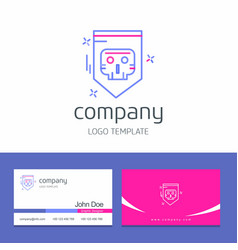 Business card design with cyber security logo vector
