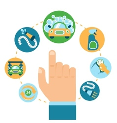 Car wash hand vector image