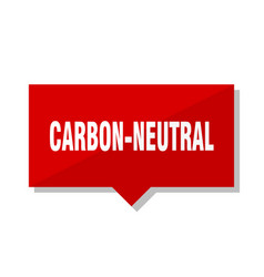 Carbon-neutral red tag vector