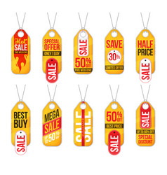 collection of sale labels price tags banners vector image
