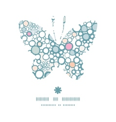 colorful bubbles butterfly silhouette pattern vector image