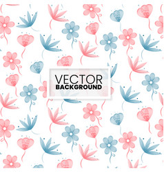 colorful floral pattern background vector image