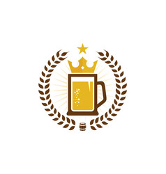 crown beer logo icon design vector image