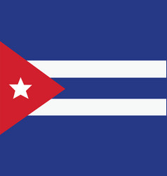 Cuba flag for independence day and infographic vector