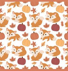Cute fox pattern vector