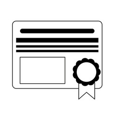 Diploma education certification symbol black and vector