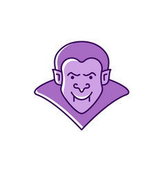 dracula icon vampire badge colorful flat vector image