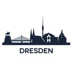 Dresden City Skyline vector image