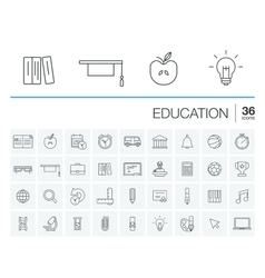 Education and learning icons vector