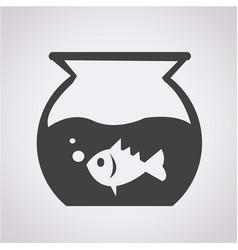 Fish bowl icon vector