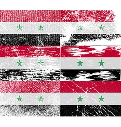 Flag of Syria with old texture vector