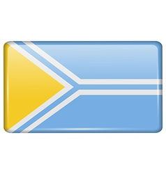 Flags Tuva in the form of a magnet on refrigerator vector