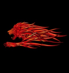 Flame lion vector