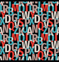 font background seamless pattern typography vector image