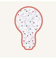 haos bulb vector image