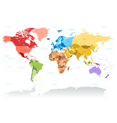 High detail color map world vector