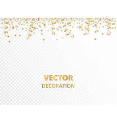 Holiday background isolated golden garland border vector