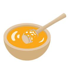 honey bowl icon isometric style vector image