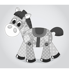 Horse old toy vector