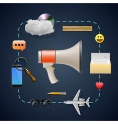 Internet marketing concept vector