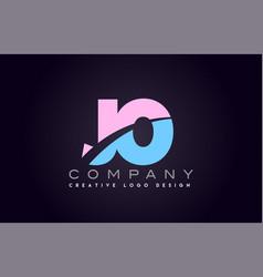 jo alphabet letter join joined letter logo design vector image