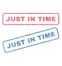 just in time textile stamps vector image