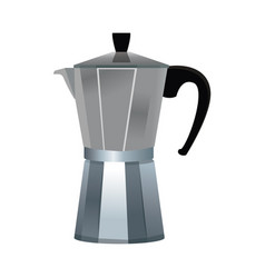 Kettle coffee drink vector