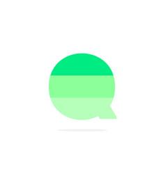 logo letter q green energy battery vector image
