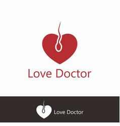 Love doctor logo template vector