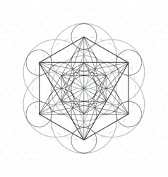 Metatron outline seed life sacred geometry vector