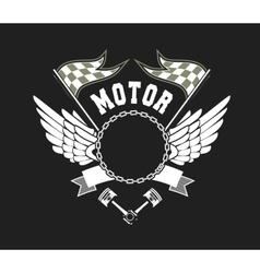 Motorcycle Badge vector image