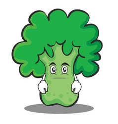 Neutral face broccoli chracter cartoon style vector