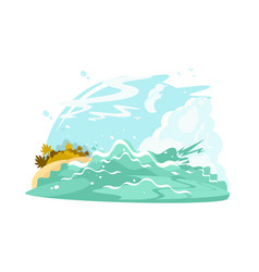 Ocean shore waves vector