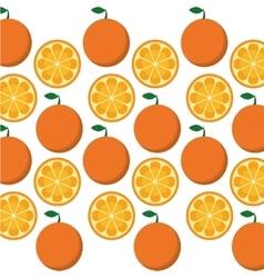 Orange fruits background design vector