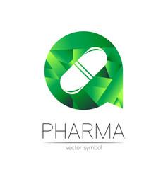pharmacy symbol for pharmacist pharma vector image