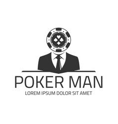 poker logo template vector image