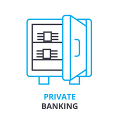 Private banking concept outline icon linea vector