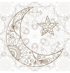 Ramadan Kareem half moon design background vector