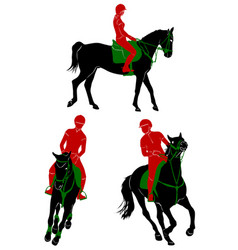 riding 1 vector image