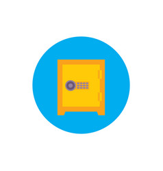 safe bank - concept icon in flat graphic design vector image