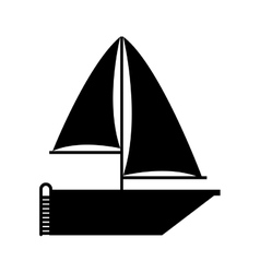 sailboat icon over white background vector image