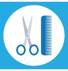 Scissors and combs Hairdressers salon vector