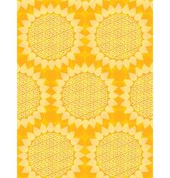 seamless sun fabric vector image
