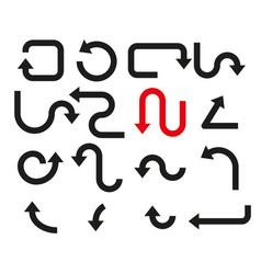 set arrows simple vector image