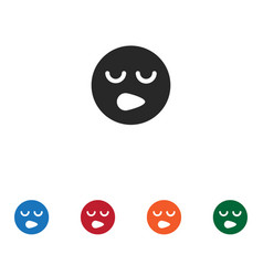Sleepy smile icon vector