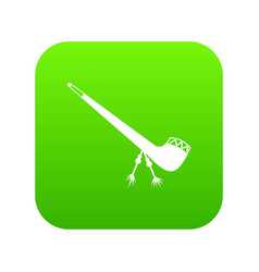 smoking pipe icon digital green vector image