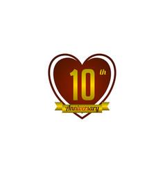 Ten year anniversary badge vector