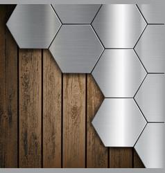 Texture of brushed metal honeycombs vector